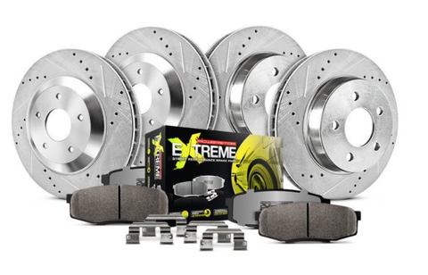 Power Stop® (16-21) Camaro SS 1-Click Street Warrior Z26 Drilled and Slotted Brake Kit