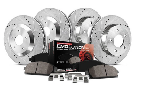 Power Stop® (16-21) Camaro V6 1-Click Z23 Evolution Sport Drilled and Slotted Brake Kit