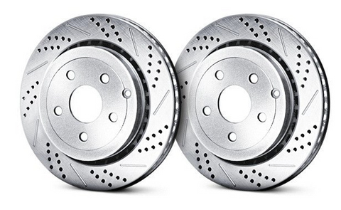 BAER® (05-21) Mopar SRT Sport Decela Drilled/Slotted 1-Piece Front Brake Rotors (6-PISTON CALIPERS)