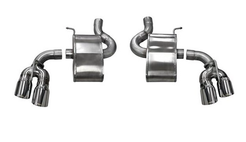 Corsa® - Xtreme™ 304 SS Axle-Back Exhaust System with Quad Rear Exit