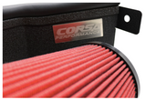 Corsa® 616957-D - APEX Series Shielded Box Steel Wrinkle Black Cold Air Intake System with DryFlow 3D Red Filter