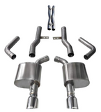 Corsa® - Xtreme™ 304 SS Cat-Back Exhaust System with Split Rear Exit
