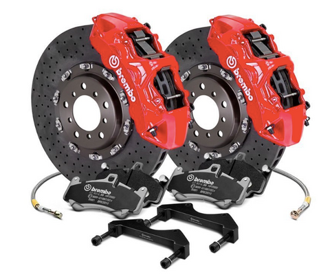Brembo® (14-20) BMW M4 GT Series CCM-R Cross Drilled 2-Piece Rotor Big Brake Kit