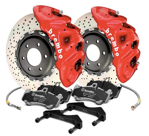 Brembo® (11-20) Cherokee SRT GT Series Cross Drilled 2-Piece Rotor Big Brake Kit