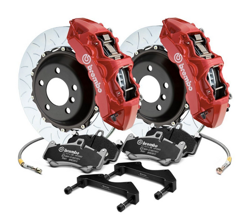 Brembo® (12-20) Cherokee SRT GT Series Curved Vane Type III 2-Piece Rotor Big Brake Kit