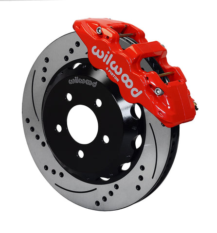 Wilwood® 140-11269-DR  Street Performance Drilled and Slotted Rotor AERO6 Caliper Front Brake Kit