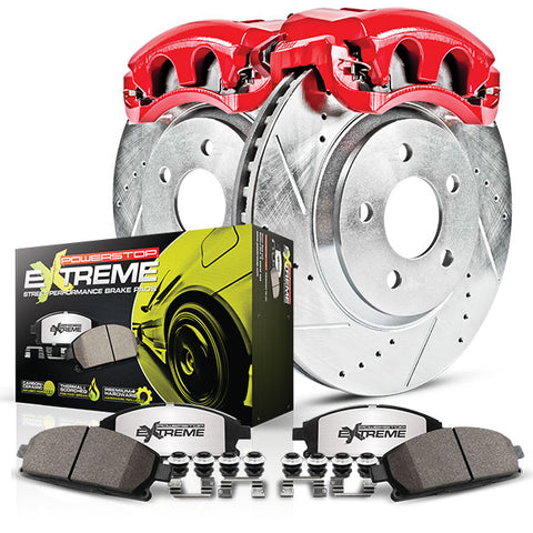 Power Stop®  KC1531-26 - Z26 Street Warrior Rear Brake Kit w/ Calipers