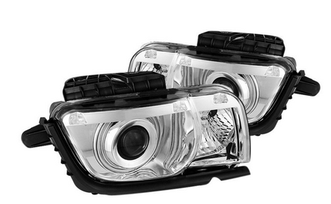 Spyder® PRO-JH-CCAM10-CCFL-C - Chrome CCFL Halo Projector Headlights