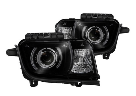 Spyder® PRO-JH-CCAM10-LED-BSM - Black/Smoke LED Halo Projector Headlights