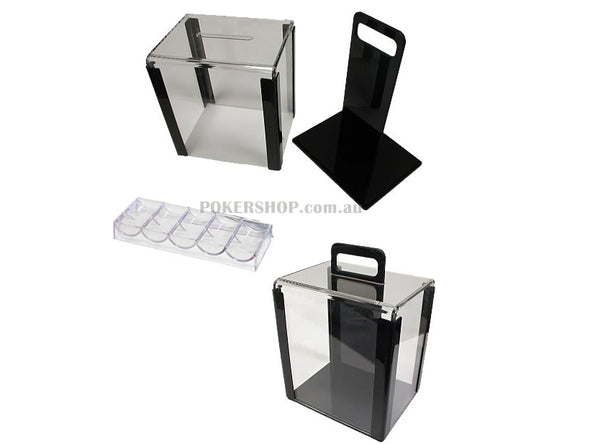 1000 pce Clear Chip Tray Carrier with 10 trays