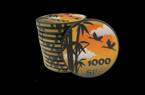 500 x SUNSET Ceramic 10g chips