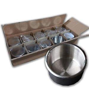 10 x Stainless Steel Cup holders - Jumbo