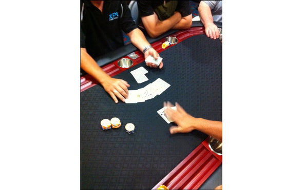 "84"" High Roller Black Suited Speed Oval Poker Table"
