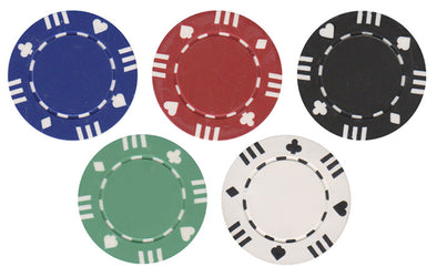 12 Stripe poker chips