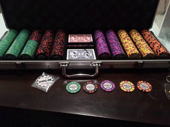 500pce Tournament Poker 13.5g Chip set