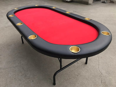 "90"" Elite Poker Table - Red"