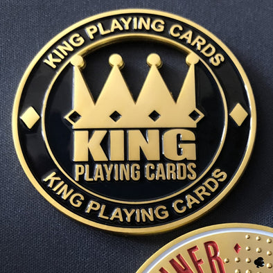 "200 x CUSTOM ""YOUR BRANDING/DESIGN"" Gold Poker Card Guards"