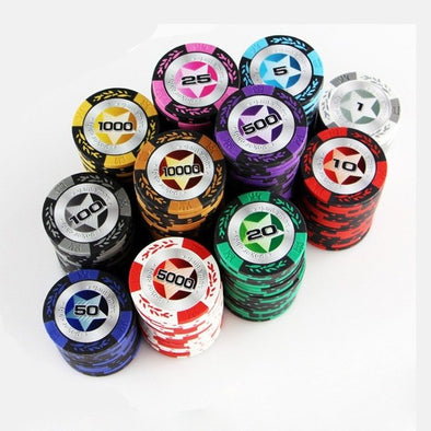 1000pce Star Laser Poker Chip set