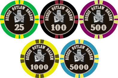 1000 x Custom Personalised Poker Chips