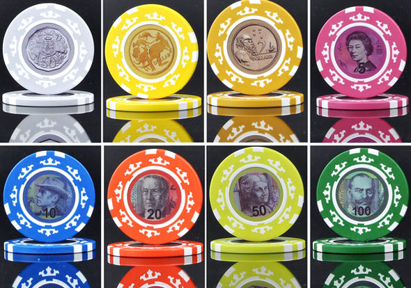 Australian Currency Clay poker chips