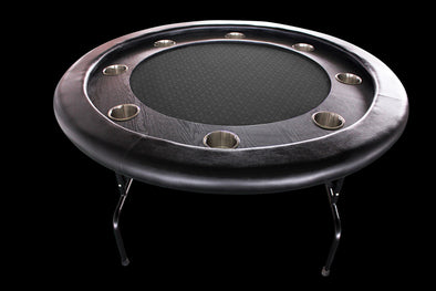 "52"" Deluxe Poker Table - Black Suited Speed Felt"