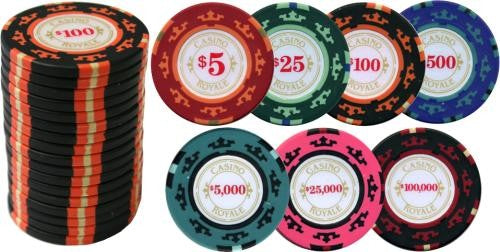 500PC CASINO ROYALE 14G CHIP SET (PREMIUM CLAY)
