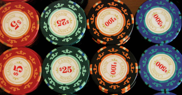 500PC CASINO ROYALE 13.5G CHIP SET (PREMIUM CLAY)