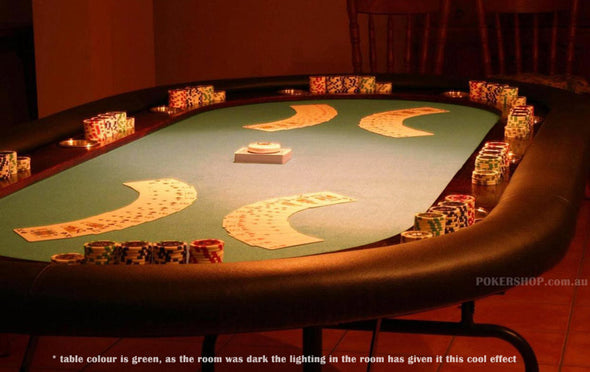 "84"" Deluxe Poker Table - Green Suited Speed Felt (folding legs)"