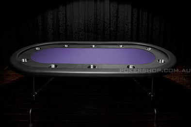 "84"" Deluxe V2 Poker Table - Purple Suited Speed Felt"