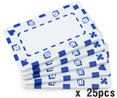 25pcs x 33g White Poker plaques -blank casino high stakes baccarat mahjong