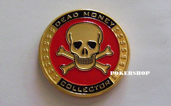 Gold Poker Card Guard - DEAD MONEY COLLECTOR