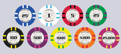 Le Royale poker chips