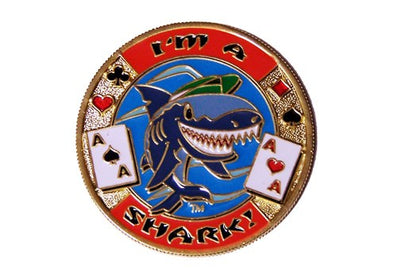 Gold Poker Card Guard - IM A SHARK