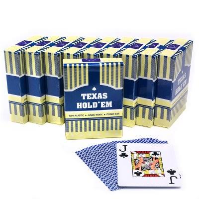 48 x Texas Holdem 100% Plastic playing cards RED