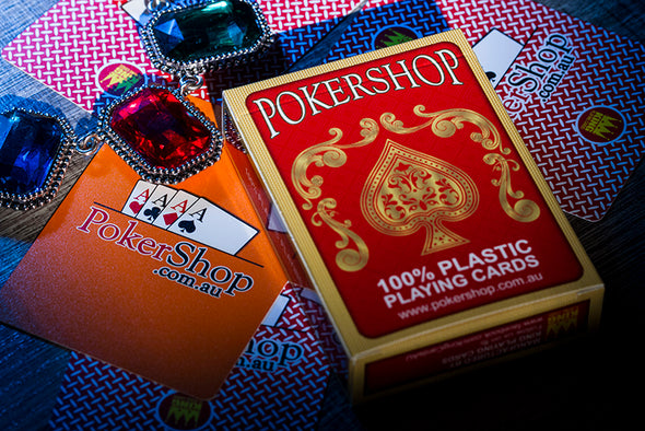24 x Decks of 100% Plastic PokerShop playing cards