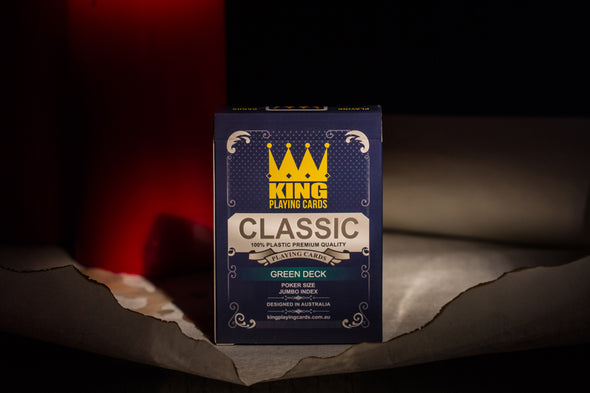 "King ""Classic"" Playing cards single deck Green"