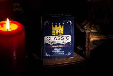 "King ""Classic"" Playing cards single deck Brown"
