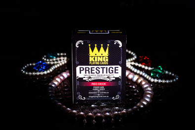"King ""Prestige"" Playing cards single deck Red"