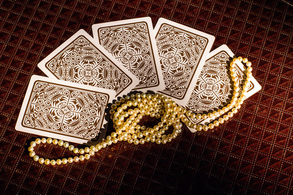 "King ""Prestige"" Playing cards single deck Brown"
