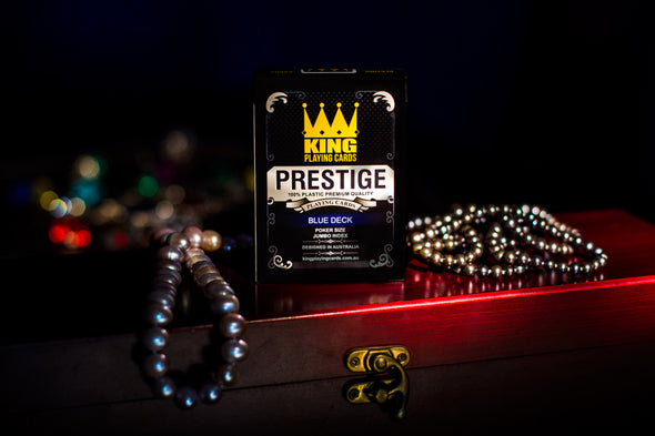 "King ""Prestige"" Playing cards single deck Blue"