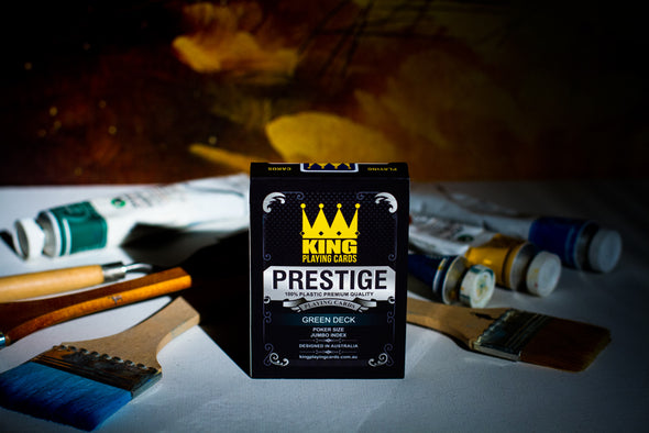 "King ""Prestige"" Playing cards single deck Green"