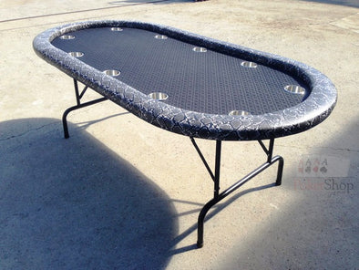 "84"" The Viper Black Poker Table"