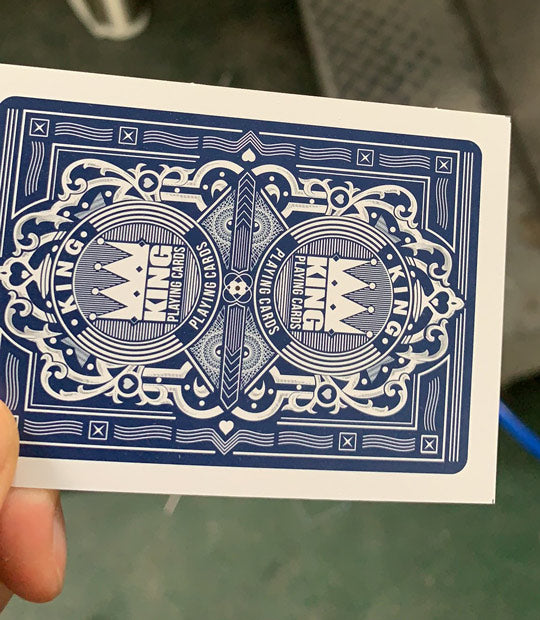 "King ""Monarch"" Playing cards single deck Blue"