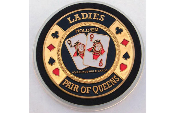 Gold Poker Card Guard - LADIES
