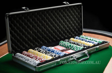 1000pce Las Vegas Laser Poker Chip set