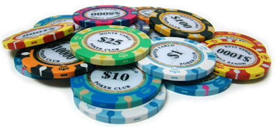 Monte Carlo Clay poker chips