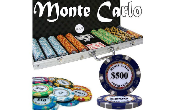 1000pce Monte Carlo 13.5g Chip set (premium Clay)