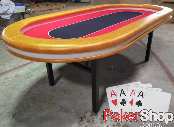 LED Championship Gold Poker Table