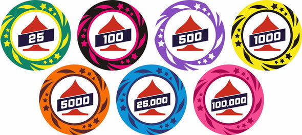 1000pce EPT Poker 13.5g Chip set