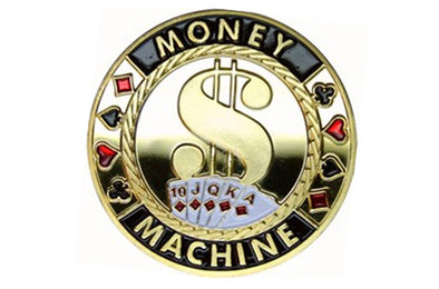 Gold Poker Card Guard - MONEY MACHINE